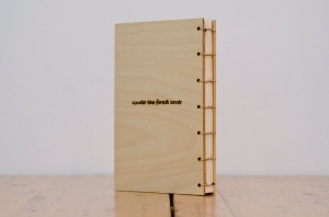 the back cover was made out of birch plywood, cut to the appropriate size, polished and oiled