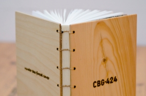 after binding, the backside was glued with a dispersion glue based on vinylacetate, especially suitable for bookbinding
